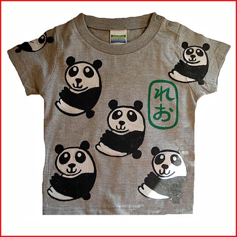 名入れTシャツ出産祝い 子供服 名入れ パンダパンダTシャツ