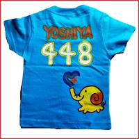 象チーム背番号Tシャツ お好きな背番号が入る!