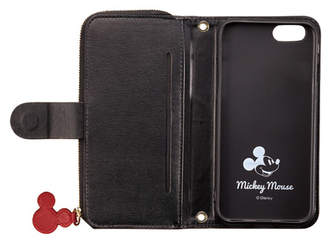 iPhone 6S/6用手帳型ミッキーコインケース付