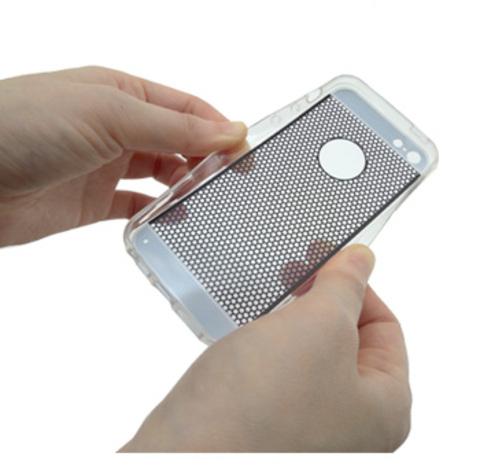 【iPhone5用ケース】オシャレ模様ラウンドのクリアデザインケース【クリックポスト送料無料】