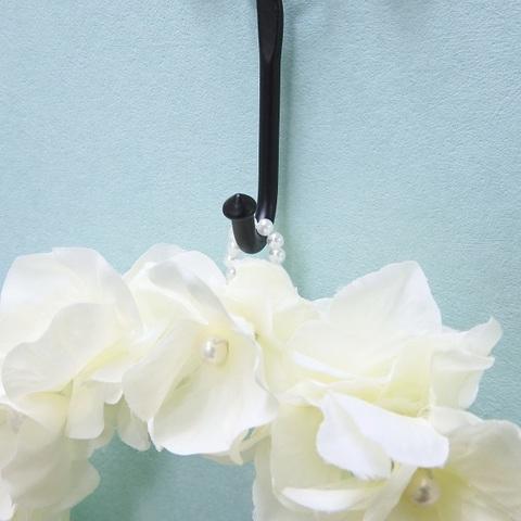 *紫陽花パールリース(ホワイト) *