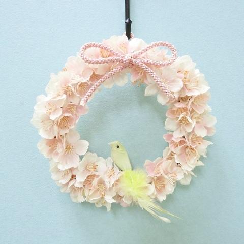 【小鳥 全5色】桜リース