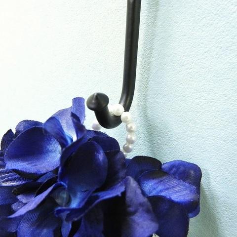 * 紫陽花ドロップリース(ディープブルー) *