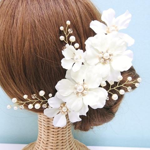 *【7点セット】髪飾り デルフィニウム(ホワイト) *