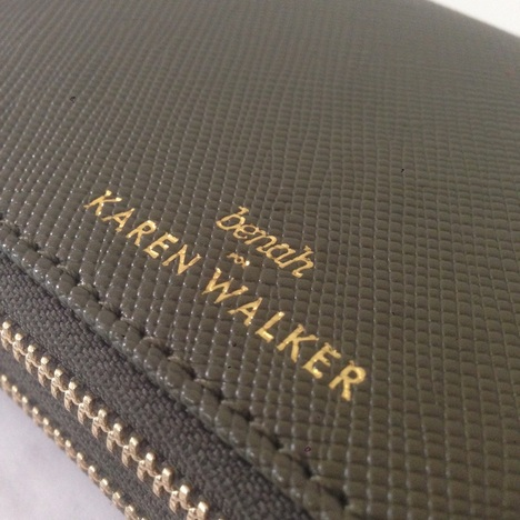 【KAREN WALKER】DANA Duo Zip Wallet