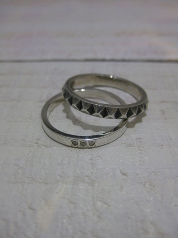 【SALE30%OFF★JAM HOME MADE 】STUDS DOUBLE RING M
