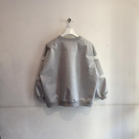 【Julien David】Thin Laminated Cotton Terry Sweatshirt