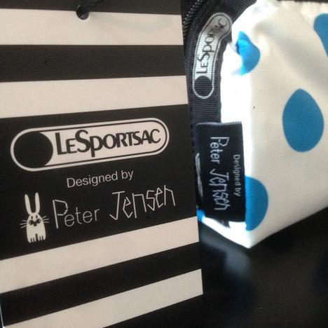 【LeSportsac×Peter Jensen】RABBIT RECTANGULAR COSMETIC マイケル