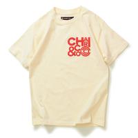 【CHARI&CO】CLUSTER LOGO TEE(CREAM)