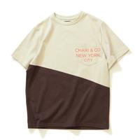 【CHARI&CO】SLOPE BI-TONE PKT TEE(SAND×DBROWN)