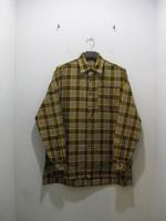 【ENHANCE ELEMENT】ヘリンボンチェックビッグシャツ(YELLOW×GRAY)