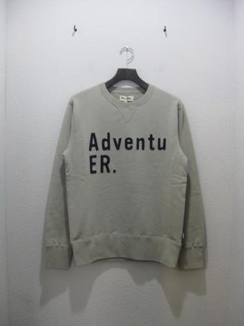 "【MAGIC NUMBER】Heavyweight Cotton Sweat Logo Applique Crew""AdventuER"""