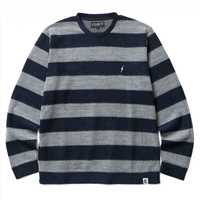【CLUCT】SHAGGY BORDER CREW NECK