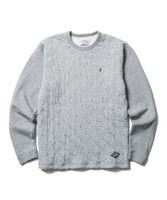 【CLUCT】L/S QUILTED CREW