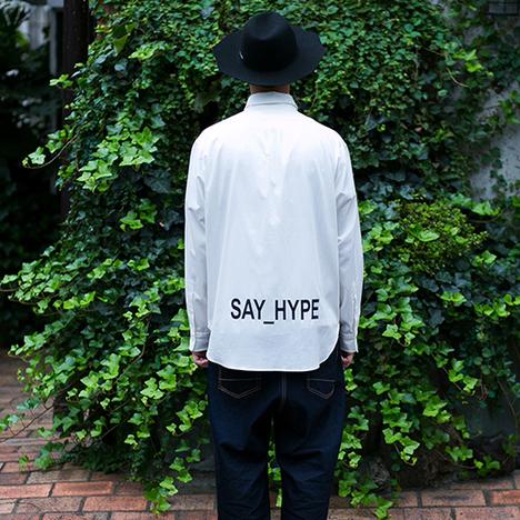 【SAY】HYBRID OXFORD SHIRTS(WHITE)