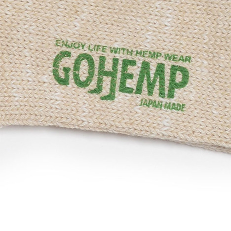 【GO HEMP】HEMP SLUB 2LINE QUARTER SOCKS×ANONYMOUSISIM