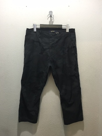 【narifuri】Stretch camouflage cropped pants