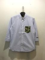 【narifuri】Seersucker stripe Q/S shirt