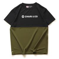 【CHARI&CO】BI-TONE NISH LOGO TEE(BK/OL)
