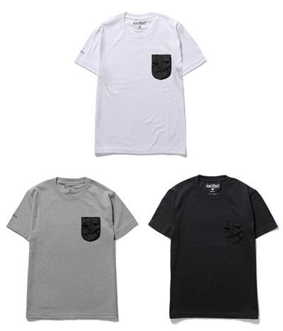 【narifuri】ジャガードカモフラージュポケットTシャツ