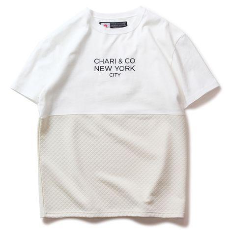【CHARI&CO】QUILT BI-TONE TEE