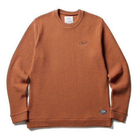 【CLUCT】CREWNECK HONEY COMB KNIT SEW