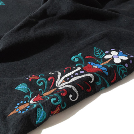 【ALDIES】Lily Embroidery Sweat PT(BLACK)