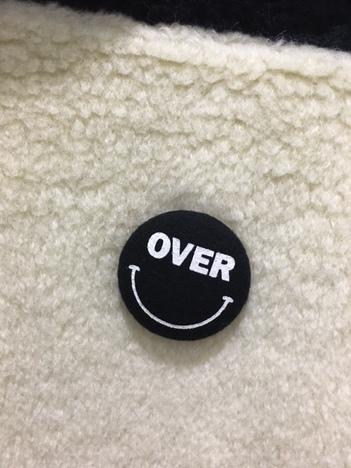 【OVER THE STRiPES】ベビーアルパカ混ファージップブルゾン(IV/BLK)