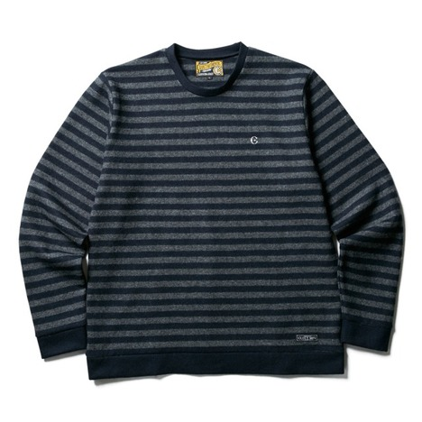 【CLUCT】WOOL BORDER STRIPE KNIT SEW