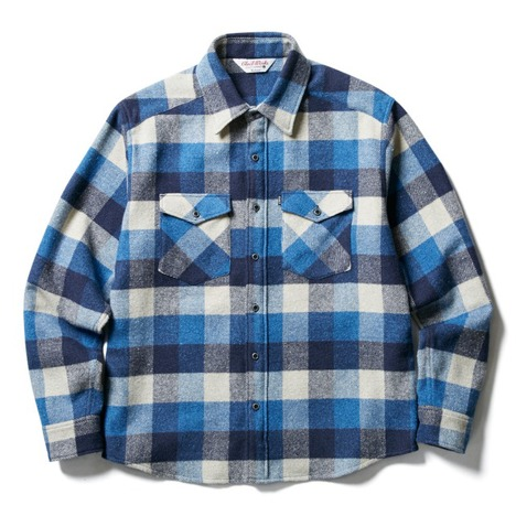 【CLUCT】FLANNEL DOUBLE CLOSURE SHIRT