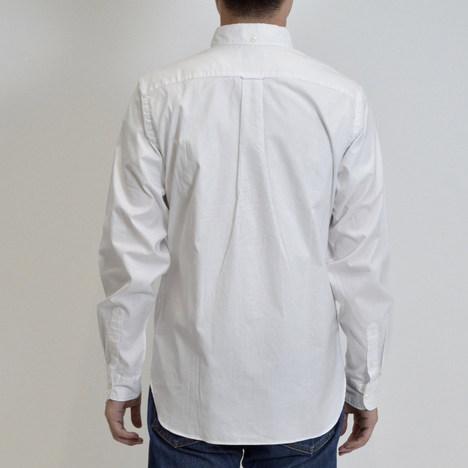 【SONTAKU】ピンオックスBDシャツ/柴犬ワッペン