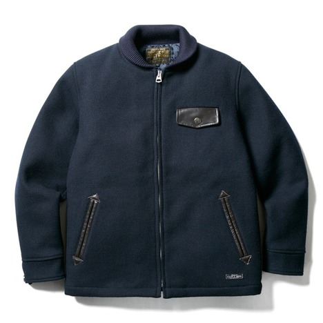 【CLUCT】SHAWL COLLAR MELTON JACKET