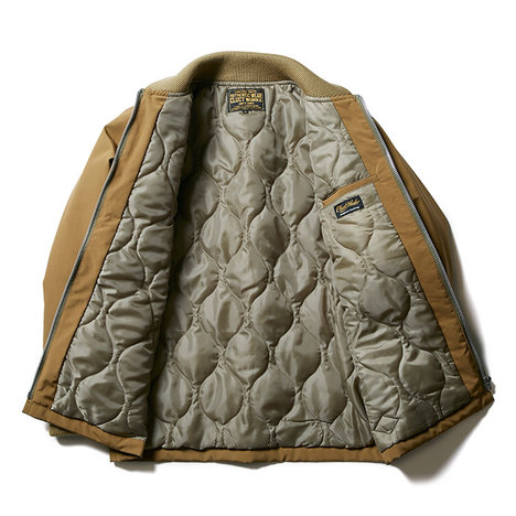 【CLUCT】QUILTED RIB JACKET