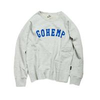 """【GO HEMP】""""GOHEMP""""CREW PK SWEAT"""