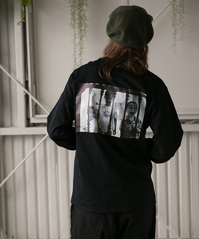 """【SAY】L/S TEE """"one picture from words"""""""