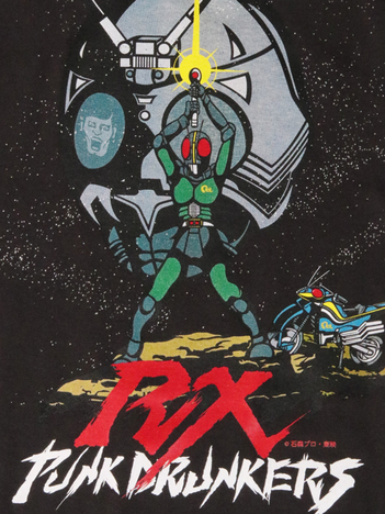 【PUNK DRUNKERS】x仮面ライダー BLACK.RX.TEE