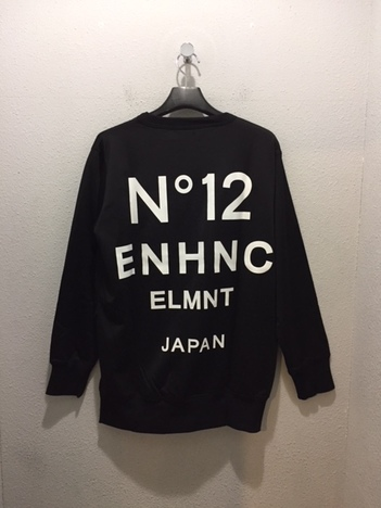 【ENHANCE ELEMENT】 ナイロン / コットン裏毛ロングトレーナー