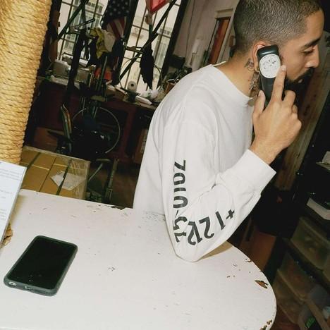 【CHARI&CO】PHONE NUMBER L/S TEE
