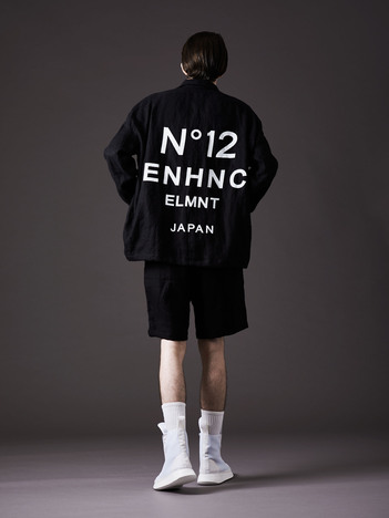 【ENHANCE ELEMENT】 10oz ストレッチデニムコーチジャケット