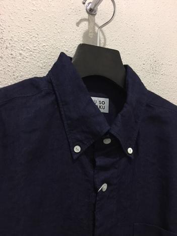 【SONTAKU】インディゴジャパンリネンBDシャツ