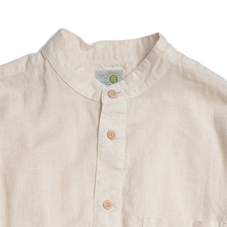【GO HEMP】NO COLLAR SHIRTS/HEMP COTTON GAUZE