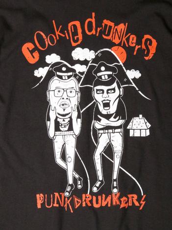 【PUNK DRUNKERS】x野性爆弾くっきー クッキードランカーズTEE