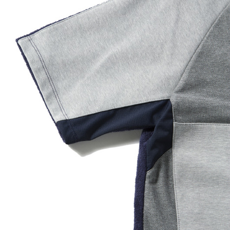 【narifuri】THING FABRICS コンビネーションパイルTシャツ