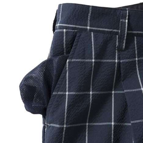 【narifuri】シアサッカーワンタックショートパンツ