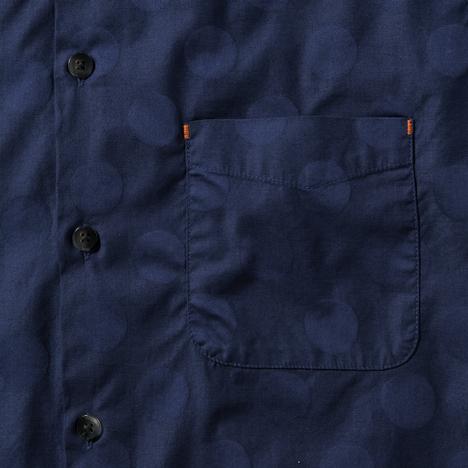 【narifuri】シャドードット半袖シャツ
