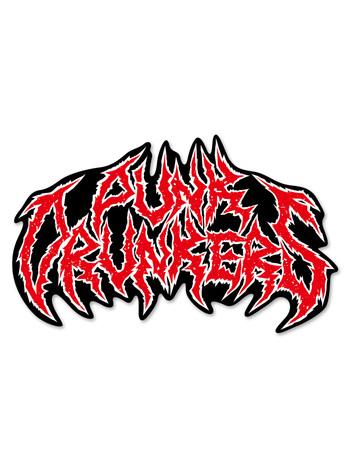 【PUNK DRUNKERS】メタル風ロゴ ステッカー