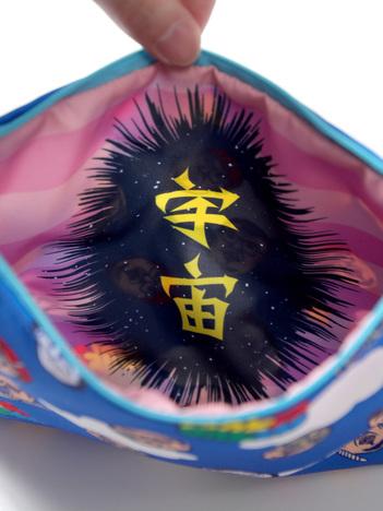 【PUNK DRUNKERS】x野性爆弾くっきー くっきー総柄ポーチ