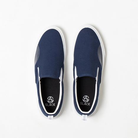 【SLACK FOOTWEAR】CALMER SLIP-ON(NAVY/WHITE)