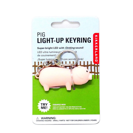 "【KIKKERLAND】Noisy Key Light ""Pig"""