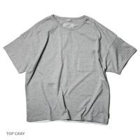 【GO HEMP】 WIDE PK TEE/TOP GRAY